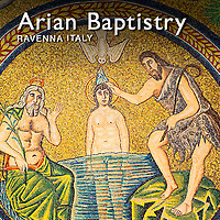 Pictures of the The Arian Baptistry Mosaics - Ravenna