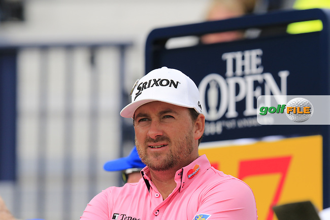 Graeme McDOWELL (NIR) waits on the 17th tee during Monday's Final Round of the 144th Open Championship, St Andrews Old Course, St Andrews, Fife, Scotland. 20/07/2015.<br /> Picture Eoin Clarke, www.golffile.ie