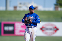 Kansas City Royals third baseman Dennicher Carrasco (51) on defense during an Instructional League game against the Cincinnati Reds on October 2, 2017 at Surprise Stadium in Surprise, Arizona. (Zachary Lucy/Four Seam Images)