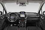 Stock photo of straight dashboard view of 2019 Subaru Forester e-Boxer-Premium 5 Door SUV Dashboard