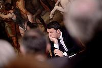 Roma, 13 Gennaio 2016<br /> Matteo Renzi.<br /> Firmato a Palazzo Chigi il protocollo d&rsquo;intesa &quot;Diamo credito all&rsquo;agroalimentare italiano&quot;, tra il Ministero delle Politiche Agricole e Forestali e Intesa San Paolo