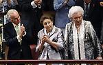 Coronation ceremony in Madrid. Aunts of King Felipe VI of Spain.Margarita de Borbón y Borbón-Dos Sicilias and Pilar de Borbón y Borbón-Dos Sicilias. June 19 ,2014. (ALTERPHOTOS/EFE/Pool)