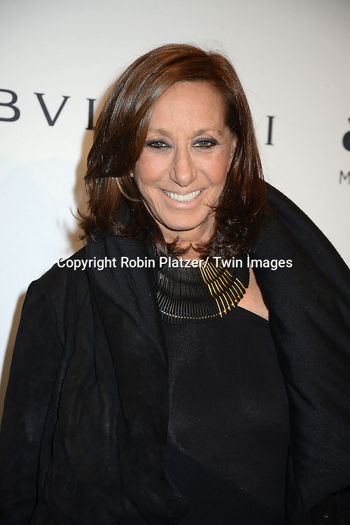 Donna Karan attends the amfAR New York Gala on February 5, 2014 at Cipriani Wall Street in New York City.