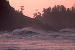 Surf kayaking, La Push, Olympic National Park, Olympic Peninsula, Washington State, Pacific Northwest, Pacific Ocean, surf kayaker competing at the informal Surf Frolic,.