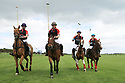 Tyrella House Polo players Paul Donnelly, Jamie McCarthy, Richard Suitor and Nicky Wilson at Tyrella House, County Down, Monday June3rd, 2019. (Photo by Paul McErlane for Belfast Telegraph)