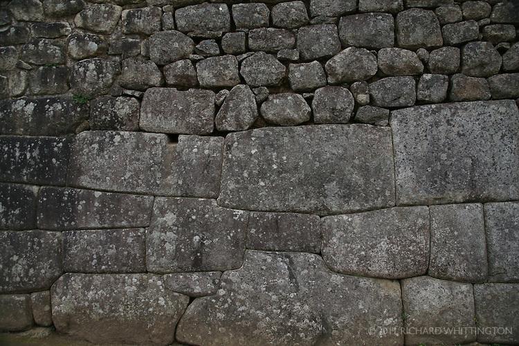 Inca stonework at Machu Pichu.