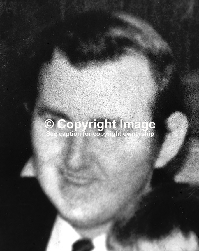 William Hutchinson, 30 years, Protestant, married, 3 children, from Omagh, shot dead whilst carrying out traffic census near Dungannon, N Ireland. Provisional IRA claimed he was a security forces spy. He was a former member of the UDR thought this was not stated at his inquest. 197408240461..Copyright Image from Victor Patterson, 54 Dorchester Park, Belfast, United Kingdom, UK...For my Terms and Conditions of Use go to http://www.victorpatterson.com/Victor_Patterson/Terms_%26_Conditions.html