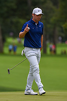 Paul Casey (GBR) after sinking his putt on 4 during Rd3 of the 2019 BMW Championship, Medinah Golf Club, Chicago, Illinois, USA. 8/17/2019.<br /> Picture Ken Murray / Golffile.ie<br /> <br /> All photo usage must carry mandatory copyright credit (© Golffile   Ken Murray)