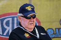 Jul 10, 2016; Joliet, IL, USA; NHRA former driver Tom McEwen during the Route 66 Nationals at Route 66 Raceway. Mandatory Credit: Mark J. Rebilas-USA TODAY Sports