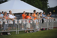 Fans watch the game from the beer garden. FC Gold Pride defeated Sky Blue FC 1-0 during a Women's Professional Soccer (WPS) match at Yurcak Field in Piscataway, NJ, on May 1, 2010.