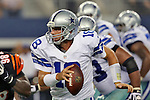 Dallas Cowboys quarterback Kyle Orton (18) in action during the pre-season game between the Cincinnati Bengals and the Dallas Cowboys at the AT & T stadium in Arlington, Texas. Dallas defeats Cincinnati 24 to 18.