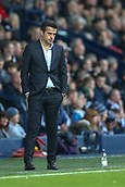 30th September 2017, The Hawthorns, West Bromwich, England; EPL Premier League football, West Bromwich Albion versus Watford; Marco Silva Manager of Watford has a stern face watching his players