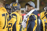 BERKELEY, CA - November 26, 2016: Antoine Albert (14) on the sidelines. Cal played UCLA at California Memorial Stadium.