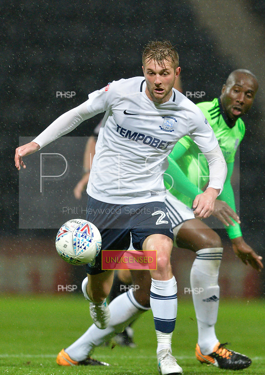 12/09/2017 Sky Bet League Championship Preston North End v Cardiff City<br /> <br /> Tom Barkhuizen, Preston North End FC