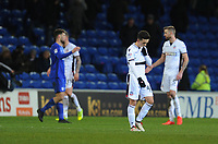 Bolton Wanderers' Zach Clough looks dejected at full time<br /> <br /> Photographer Kevin Barnes/CameraSport<br /> <br /> The EFL Sky Bet Championship - Cardiff City v Bolton Wanderers - Tuesday 13th February 2018 - Cardiff City Stadium - Cardiff<br /> <br /> World Copyright &copy; 2018 CameraSport. All rights reserved. 43 Linden Ave. Countesthorpe. Leicester. England. LE8 5PG - Tel: +44 (0) 116 277 4147 - admin@camerasport.com - www.camerasport.com