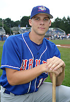 July 26, 2003:  Christian Snaverly of the Auburn Doubledays, Class-A affiliate of the Toronto Blue Jays, during a game at Dwyer Stadium in Batavia, NY.  Photo by:  Mike Janes/Four Seam Images