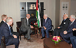 Palestinian President Mahmoud Abbas meets with Prime Minister of Belgium, on the sidelines of the General Debate of the 73rd session of the General Assembly at the United Nations, in New York on September 26, 2018. Photo by Thaer Ganaim