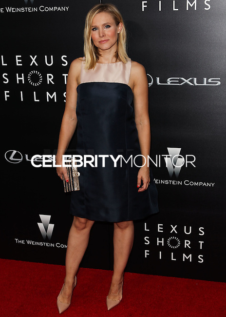 LOS ANGELES, CA, USA - JULY 30: Actress Kristen Bell arrives at the 2nd annual Lexus Short Films 'Life Is Amazing' presented by The Weinstein Company and Lexus held at Regal Cinemas L.A. Live on July 30, 2014 in Los Angeles, California, United States. (Photo by Celebrity Monitor)