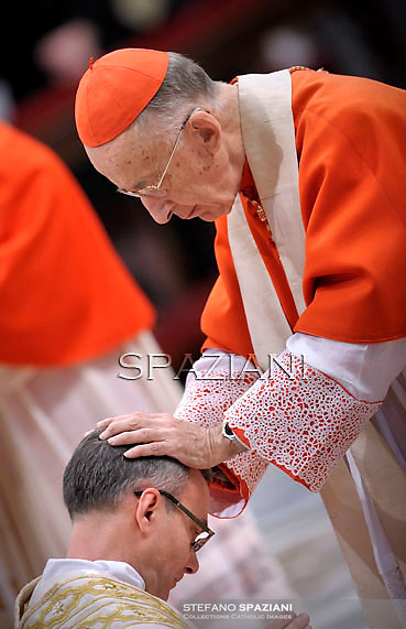 Cardinal Camillo Ruini,Pope Benedict XVI The pontiff appointed two new bishops during the mass. the Solemnity of Epiphany at St Peter's basilica at the Vaticanon January 6, 2012 .