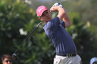Brandon Stone (RSA) on the 1st tee during Round 2 of the Omega Dubai Desert Classic, Emirates Golf Club, Dubai,  United Arab Emirates. 25/01/2019<br /> Picture: Golffile | Thos Caffrey<br /> <br /> <br /> All photo usage must carry mandatory copyright credit (© Golffile | Thos Caffrey)