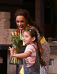 Nicolette Robinson with Mariam Bedigian as she makes her Broadway debut in 'Waitress' on September 4, 2081 at the Brooks Atkinson Theatre in New York City.
