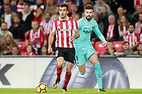 Athletic de Bilbao's Inigo Lekue (l) and FC Barcelona's Gerard Pique during La Liga match. October 28,2017. (ALTERPHOTOS/Acero) /NortePhoto.com
