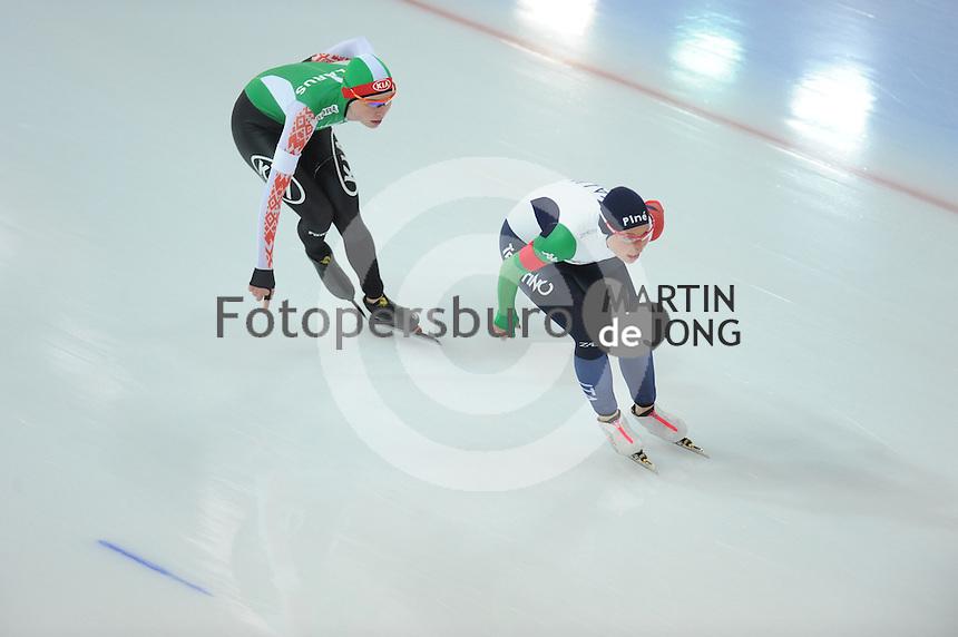 SPEED SKATING: HAMAR: Vikingskipet, 04-03-2017, ISU World Championship Allround, 3000m Ladies, Marina Zueva (BLR), Francesca Lollobrigida (ITA), ©photo Martin de Jong
