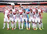 Toronto FC lines up before the game at RFK Stadium in Washington, DC.  D.C. United tied Toronto FC, 1-1.