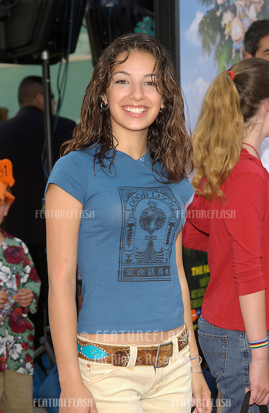 Actress VANESSA LENGIES at the Los Angeles premiere of Rugrats Go Wild..June 1, 2003