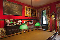 Europe/Royaume-Uni/Îles Anglo-Normandes/Île de Guernesey/Saint-Pierre-Port: Hauteville House, Maison de Victor Hugo, et Musée Victor Hugo<br /> La salle de billard