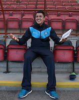 Luke O'Nien of Wycombe Wanderers in the dugout pre match during the Sky Bet League 2 match between Leyton Orient and Wycombe Wanderers at the Matchroom Stadium, London, England on 19 September 2015. Photo by Andy Rowland.
