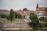 SERBIA, Novi Sad, Rooftops over the River Danube, Eastern Europe