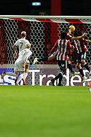 GOAL - EzgjanAlioski of Leeds United makes it 1-1 during the Sky Bet Championship match between Brentford and Leeds United at Griffin Park, London, England on 4 November 2017. Photo by Carlton Myrie.