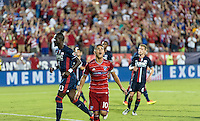 Frisco, TX. - September 13, 2016: FC Dallas takes a 2-1 lead over the New England Revolution with Mauro Díaz adding a PK goal during the 2016 U.S. Open Cup Final at Toyota Stadium.
