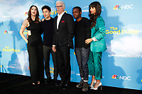 "LOS ANGELES - JUN 7:  D'Arcy Carden, Manny Jacinto, Ted Danson, William Jackson Harper, Jameela Jamil at the NBC's ""The Good Place"" FYC Event at the Television Academy on June 7, 2019 in North Hollywood, CA"