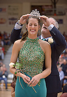 NWA Democrat-Gazette/BEN GOFF @NWABENGOFF<br /> Madison Brittain reacts as her father Mark Brittain crowns her after she was named Bentonville High Colors Day Queen on Friday Jan. 15, 2016 during a ceremony at halftime in the boys basketball game against Springdale Har-Ber in Tiger Arena.