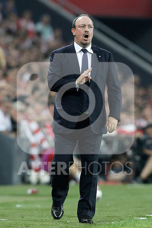 SSC Napoli's coach Rafael Benitez during Champions League 2014/2015 Play-off 2nd leg match.August 27,2014. (ALTERPHOTOS/Acero)