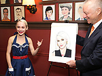 Sophia Anne Caruso and Max Klimavicius during the Sophia Anne Caruso Sardi's Portrait Unveiling at Sardi's on July 10, 2019 in New York City.