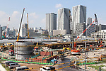 A view of the proposed site of athlete village for the 2020 Tokyo Olympic Games is seen in Tokyo, Japan, on September 9, 2017. (Photo by Hiroyuki Ozawa/AFLO)