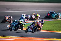 VALENCIA, SPAIN - NOVEMBER 8: Jules Danilo, Jakub Kornfeil during Valencia MotoGP 2015 at Ricardo Tormo Circuit on November 8, 2015 in Valencia, Spain