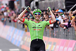 Pierre Rolland (FRA) Cannondale-Drapac wins solo Stage 17 of the 100th edition of the Giro d'Italia 2017, running 219km from Tirano to Canazei, Italy. 24th May 2017.<br /> Picture: LaPresse/Gian Mattia D'Alberto | Cyclefile<br /> <br /> <br /> All photos usage must carry mandatory copyright credit (&copy; Cyclefile | LaPresse/Gian Mattia D'Alberto)