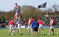 Bath Rugby warm up before the game during the Aviva Premiership match between Saracens and Bath Rugby at Allianz Park, Hendon, England on 26 March 2017. Photo by Stewart  Wright  / PRiME Media Images.