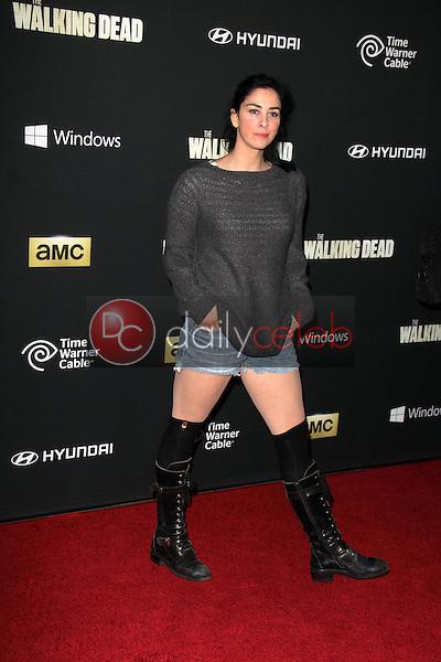 "Sarah Silverman<br /> at ""The Walking Dead"" Season Four Premiere, AMC Universal Citywalk Stadium 19,  Universal City, CA 10-03-13<br /> Dave Edwards/DailyCeleb.com 818-249-4998"