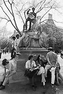 New Haven, CT. May 2nd 1970 Yale University.<br /> Yale students and protesters from around the US are demonstrating on the Yale University campus in support of the Black Panther Party while several party leaders, including cofounder Bobby Seale, are on trial.