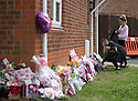 23/06/15<br /> <br /> Floral tributes are left at the scene today in North Street, Langley Mill, Derbyshire, where three people died and five were injured in a flat fire on Sunday. Three people were arrested for their murder this morning.<br /> <br /> All Rights Reserved - F Stop Press.  www.fstoppress.com. Tel: +44 (0)1335 418629 +44(0)7765 242650