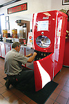 The Coca-Cola Free Style, a beverage machine that dispenses more than 100 drink choices, is a new addition to Firehouse Subs on South Upper Street. Photo taken Friday, July 1, 2011. Photo by Becca Clemons | STAFF