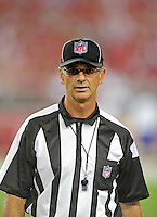 Sept. 27, 2009; Glendale, AZ, USA; NFL referee Rob Vernatchi during the game between the Arizona Cardinals against the Indianapolis Colts at University of Phoenix Stadium. Indianapolis defeated Arizona 31-10. Mandatory Credit: Mark J. Rebilas-