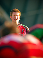 Rory Clegg watches the action unfold in front of him. Guinness Premiership match between Harlequins and Worcester Warriors on March 6, 2010 at the Twickenham Stoop in London, England. [Mandatory Credit: Patrick Khachfe/Onside Images]