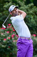 Sergio Garcia (ESP) watches his tee shot on 4 during round 3 of the Dean &amp; Deluca Invitational, at The Colonial, Ft. Worth, Texas, USA. 5/27/2017.<br /> Picture: Golffile | Ken Murray<br /> <br /> <br /> All photo usage must carry mandatory copyright credit (&copy; Golffile | Ken Murray)