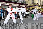 ..Daniel O'Sullivan and Mark Stack (left) from the Jason Moriarty Martials Arts acedemyat the Killarney St Patricks Day parade on Sunday ..